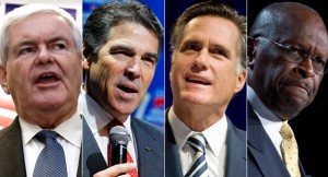 Newt Gingrich, Rick Perry, Mit Romney, Herman Cain