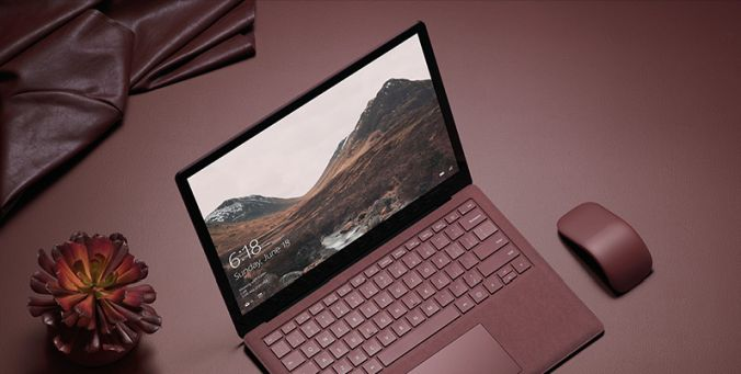 This is a picture of the Microsoft Surface Laptop, which is a Windows 10 S device