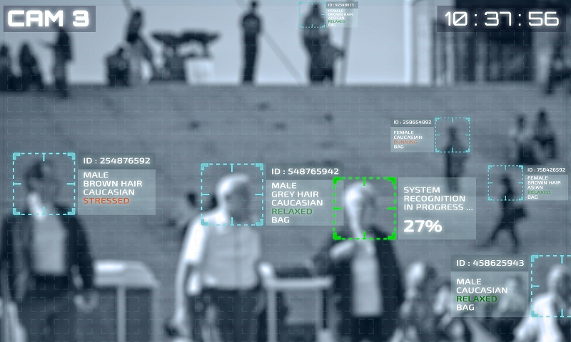 Facial recognition on security cameras