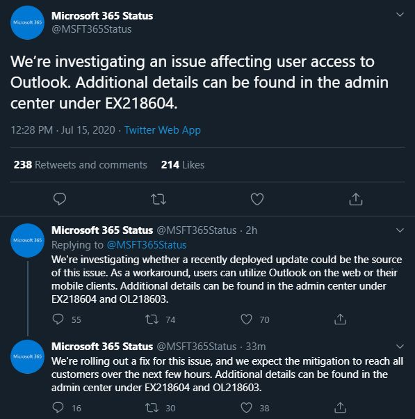 Outlook Won't Open After Most Recent Patch