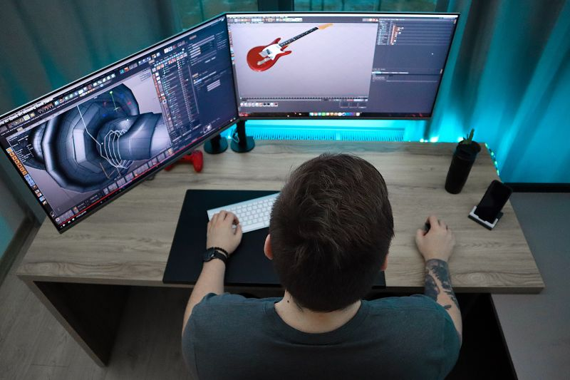 video editing with a high powered desktop computer